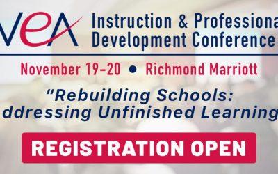 REGISTER NOW for VEA's Premier Instructional Conference – Nov 19th & 20th