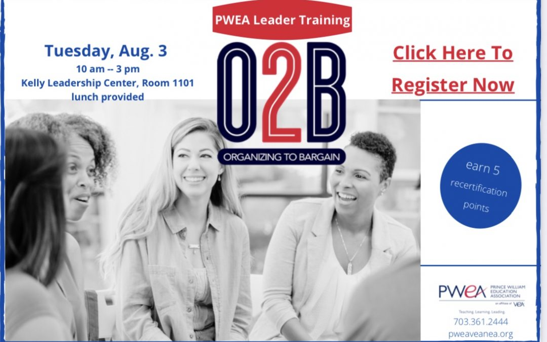 Register Now For August 3rd, 2021 PWEA Leader Training